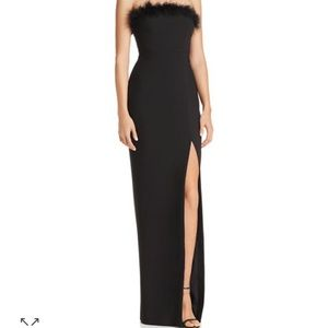 Likely Presley strapless feather gown